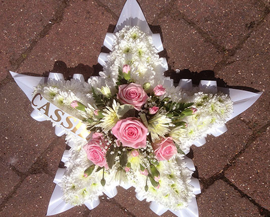 Simply Flowers Nottingham Funeral Flowers Lettered